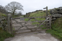 The Gate at the start of the walk