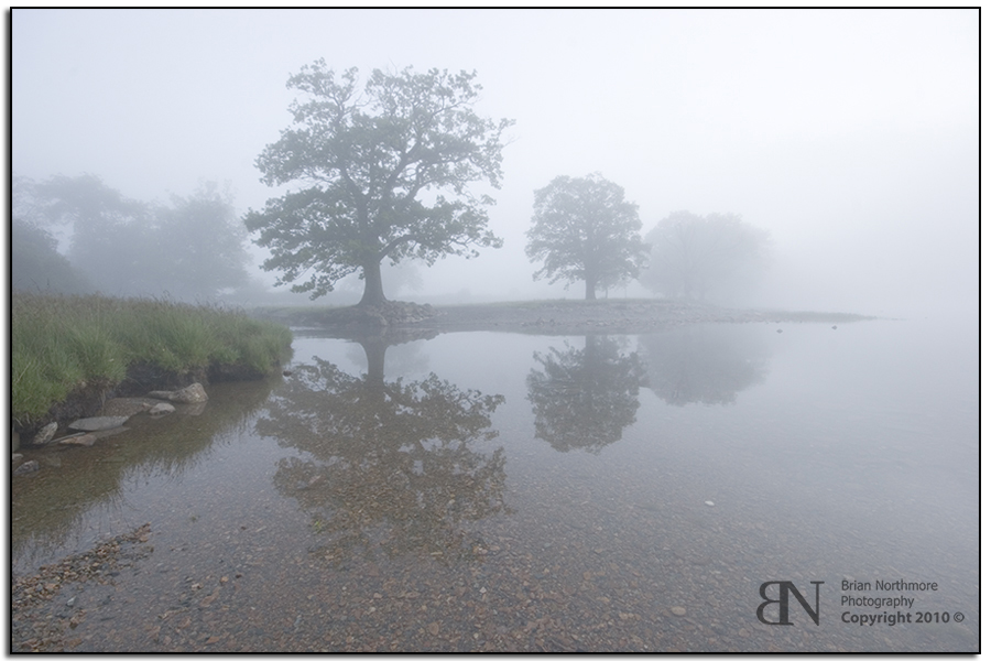 Photograph Of Buttermere in the mist Lake Dstrict National Park